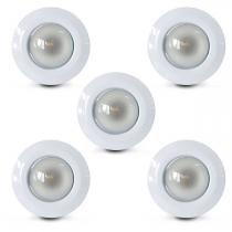 Spot embutido fixo e-27 vertical (com lampada spot) 05 unidades - Home line