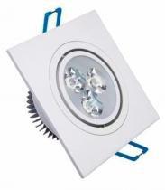 Spot Super Led Quadrado 3w Branco frio Embutir Direcional Gesso - Importado