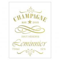 Stencil de acetato para pintura opa 15 x 20 cm - 2047 rótulo champagne -