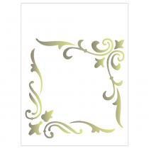Stencil de plástico para pintura opa 15 x 20 cm - 163 cantoneira arabesco -