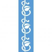 Stencil para Pintura Barra 29,5x8,5 Arabesco com Folhas LS-017 - Litocart - Litocart