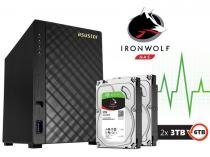Storage NAS Asustor Marvell  6TB (2X3TB) Dual Core 1.0 GHZ 512MB DDR3 Torre C/DISCO AS1002T6000 -