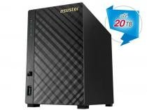 Storage NAS Asustor Marvell Dual Core 1,0 GHZ 512MB DDR3 Torre 2 Baias - AS1002T -