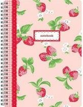 Strawberry Notebook - Quadrille stationery