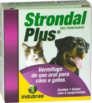Strondal Plus Vermífugo Comprimido com 4 - Indubras