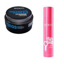 Styling Water Wax 3 50ml e Styling Pillow Proof Dry Shamp 153ml Redken Finalizador Modelador Fixador -
