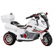 Super Moto Elétrica Infantil com Farol e Buzina Branca 928400 - Belfix - Belfix