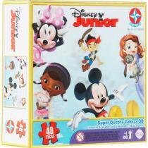 Super Quebra-Cabeça 3D Disney Jr. 48 Peças Estrela -