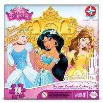 Super Quebra-Cabeça Princesas Disney Estrela 100 Peças 3D - Estrela