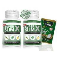 Super Slim X 2 Potes 60 cápsulas + Óleo De Coco 15 gr - Promel ind. com. imp. e exp. de prod. ltda / copra