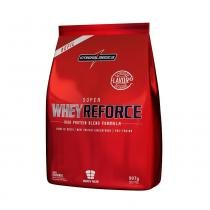 Super whey reforce 907g refil - morango - Integralmedica