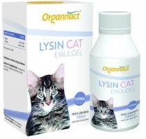 Suplemento Alimentar 100ml Organnact Lysin Cat Emulgel 100ml -