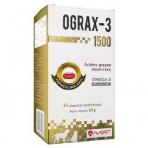 Suplemento Avert Ograx-3 1500 com Ômega 3 30 Cápsulas -