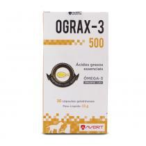 Suplemento Ograx-3 500mg Avert c/ 30 Cápsulas -