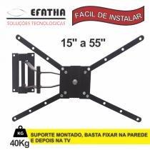 """Suporte de Tv Lcd/ Plasma/ Led ou 3D Slcd 15"""" a 55"""" Tri Articulado Efatha - Efatha"""