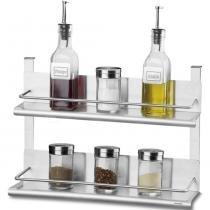 Suporte Duplo para Condimentos Spazio Aço Inox 2215/105 - Brinox - Brinox