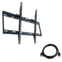 """Suporte  inclinável para TVs de 37"""" a 70 + Grátis HDMI 1.8 metros HDMI718 - SBRP613 - Brasforma"""