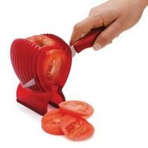 Suporte para cortar tomate de plástico com faca - Joie