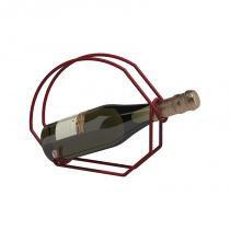 Suporte para garrafa de vinho vermelho - Vermelho - Domo house