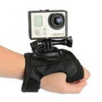 Suporte para mão tipo luva com giro 360 graus wrist para gopro e sjcam - Dx
