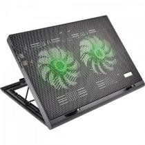 Suporte para notebook com 2 coolers acoplados ac267 preto multilaser -