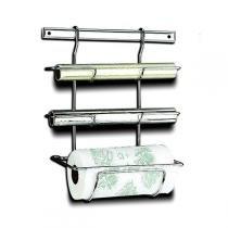 Suporte para Rolo de Papel Toalha, Alumínio e PVC - Piatina Brinox -