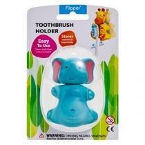 Suporte Protetor para Escova Dental Infantil Flipper Elefante - 4 estacoes