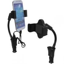 Suporte Universal C/Carregador Usb P/Gps E Smart Bright -