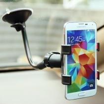 Suporte Veicular para Celular e GPS Haste flexível 20 CM Garra Dupla - Exbom