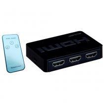 Switch 3 portas HDMI com Controle Remoto Multilaser  WI290 - MULTILASER
