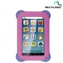 "Tablet 7"" Android 4.4 Quad Core Kid Pad Rosa NB195 - Multilaser -"
