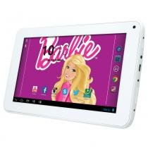 Tablet Android 4.2 Barbie com Headphone - Tela 7 Multi-Touch e 8GB - Candide -