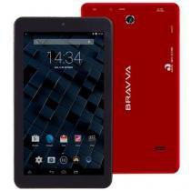 "Tablet Bravva BV-Quad 8GB Wi-Fi Tela 7"" Android 5.0 Processador Quad Core 1.3GHz Vermelho - Bravva"