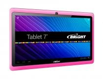 "Tablet Bright de 7"" Com Processador Dual Core Rosa - Bright"