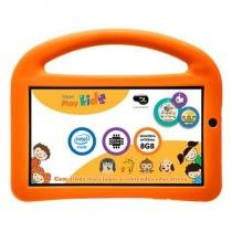 Tablet dl play kids, intel quad core, 8gb, wi-fi, com capa protetora - tx330bra -