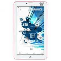 Tablet dl socialphone 700, android 5, 8gb, wi-fi, 3g, rosa neon - tx315rno -