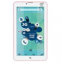 Tablet DL Socialphone 700 Rosa Neon TX316RNO Tela 7, 3G, 8GB - DL