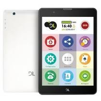 "Tablet DL Tab Fácil TX385 , Branco, Tela 7,8"", 3G+Wi-Fi, Android 7, 2MP, 8GB - Hdl"