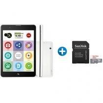 """Tablet DL TabFácil 8GB 7,85"""" 3G e Wi-Fi Android 7 - Nougat + Cartão de Memória 64GB SanDisk"""