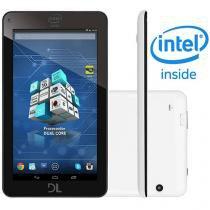 "Tablet DL X-Pro Dual 8GB 7"" Wi-Fi Android 4.4 - Proc. Dual Core Câmera Integrada"