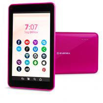 Tablet Everex Fine7 8Gb 512Mb Android 4.4 Quad Core - Rosa - Everex computer