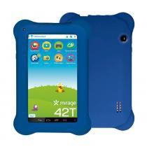 "Tablet Infantil 42T Dual Câmera Tela 7"" Android 4.4 2001 Azul - Mirage - Mirage"