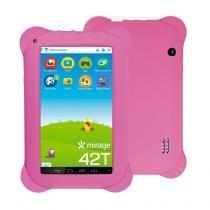 "Tablet Infantil 42T Dual Câmera Tela 7"" Android 4.4 2002 Rosa - Mirage - Mirage"