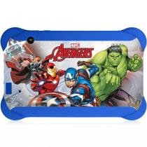 Tablet Infantil Disney Vingadores, Quad Core, Android 4.4, Dual Câmera, Tela 7, Wi-Fi, 8GB - Multilaser