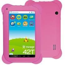 "Tablet Infantil Mirage 42T Quad Core Dual Câmera 2MP + 1.3MP Tela 7"" Android 4.4 Rosa -"