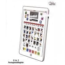 Tablet interativo infantil educativo bilingue  multifuncoes 2 em 1 portgugues e ingles - Gimp