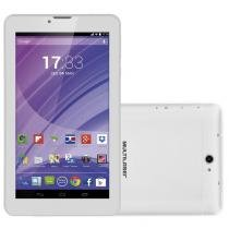 "Tablet M7, Dual Chip, Branco, Tela 7"", 3G+WiFi, Android 4.4, 2MP, 8GB - Multilaser -"
