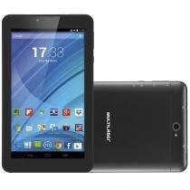 "Tablet M7, Dual Chip, Preto, Tela 7"", 3G+WiFi, Android 4.4, 2MP, 8GB - Multilaser -"