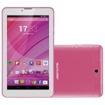 "Tablet M7, Dual Chip, Rosa, Tela 7"", 3G+WiFi, Android 4.4, 2MP, 8GB - Multilaser -"