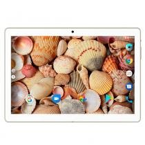 "Tablet Mirage 81T 3G Android 6.0 Dual Camera 5MP+2MP 10"" Quad Core Dourado -"